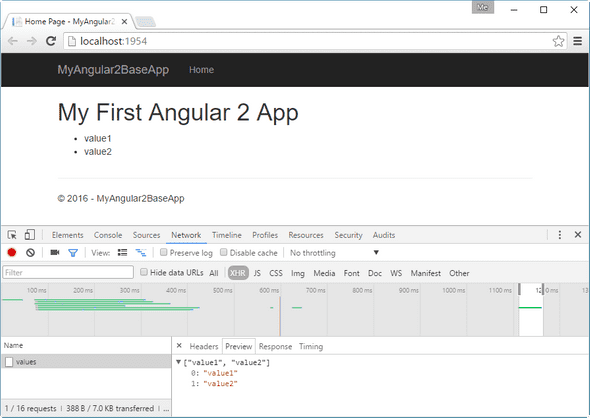 Angular 2 HTTP request result page